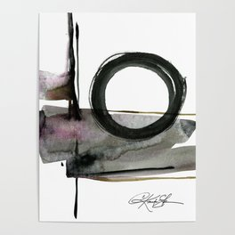 Enso Abstraction No. 112 by Kathy morton Stanion Poster