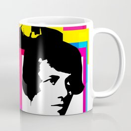 YOUNG ENID BLYTON, ENGLISH CHILDRENS NOVELIST, POP ART STYLE COLLAGE Coffee Mug