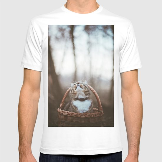 Cat in a basket T-shirt