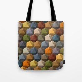 icosahedron multicolor Tote Bag