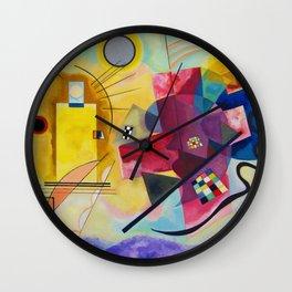Kandinsky Yellow Red Blue Wall Clock