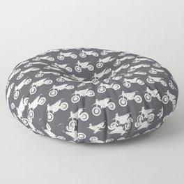Dirt Bikes // Charcoal Grey Floor Pillow