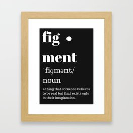 fig·ment Merchandise Framed Art Print