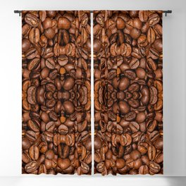 Shiny brown coffee beans Blackout Curtain