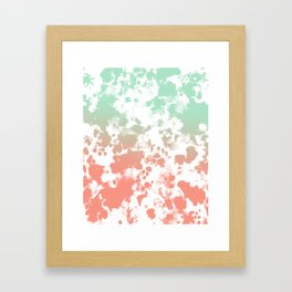 Abstract minimal ombre fade painted trendy modern color palette Framed Art Print