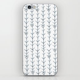 Twigs and branches freeform gray iPhone Skin