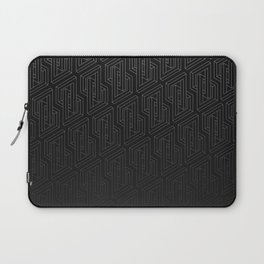 Optical illusion - Impossible Figure - Balck & White Pattern Laptop Sleeve