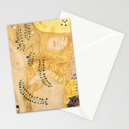 Water Serpents - Gustav Klimt Stationery Cards