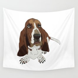 Basset Hound Dog Wall Tapestry
