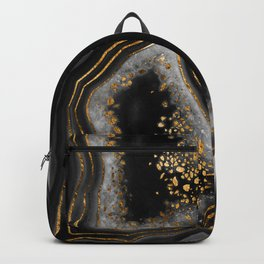 Agate Copper Gold Glam Night #1 #gem #decor #art #society6 Backpack