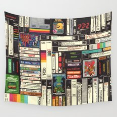 Cassettes, VHS & Atari Wall Tapestry
