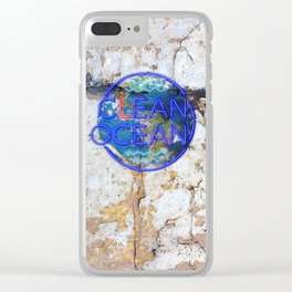 Clean Ocean – Save the Sea Clear iPhone Case