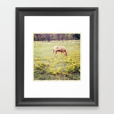In a Field of Wildflowers Framed Art Print