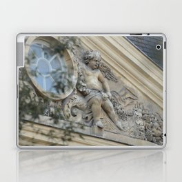 Baroque angel on Parisian mansion facade Laptop & iPad Skin