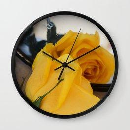 Single Yellow Rose of Texas Wall Clock