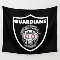 guardians Wall Tapestries featuring Guardians  by Buby87