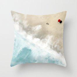 SHORE WALK Throw Pillow