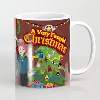 fangirl Mugs featuring A Very Fangirl Christmas by Leigh Lahav