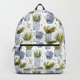 cactus in patterned pots pattern Backpack