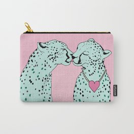 Mint Chocolate Chip Cheetahs Carry-All Pouch