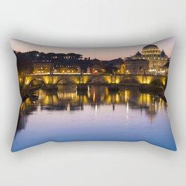 Dusk Over the Tiber Rectangular Pillow