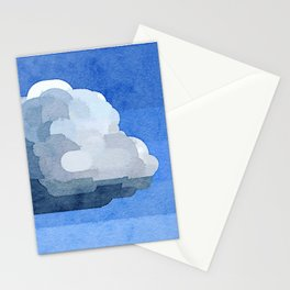 """""""Fluffy Cloud"""" Watercolor Painitng Stationery Cards"""