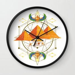 Egyptian Pyramids Wall Clock