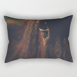 Horse photography, high quality, nature landscape fine art print Rectangular Pillow
