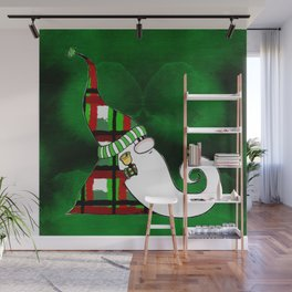Jingle Gnome in Plaid Wall Mural