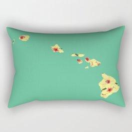 Hawaii in Flowers Rectangular Pillow