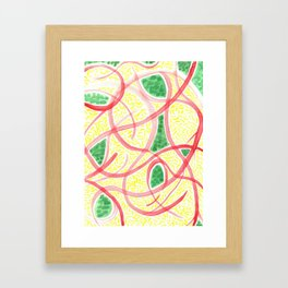 Rice with greens and tomato Framed Art Print