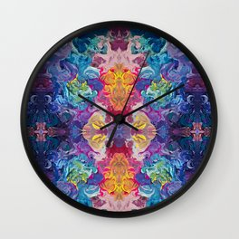 Aurora Swirls Wall Clock