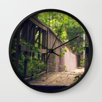 indiana Wall Clocks featuring Indiana Summer by Amy J Smith Photography
