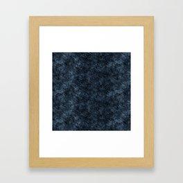 Dark Blue Jeans Denim Texture Framed Art Print