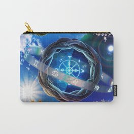 X . The Wheel Tarot Card Illustration Carry-All Pouch