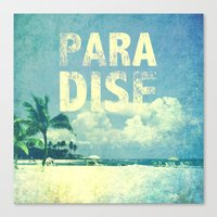 paradise Canvas Prints featuring Paradise by M Studio