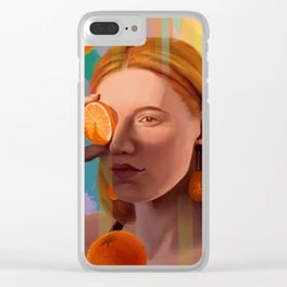 Orange Looking Glass Clear iPhone Case