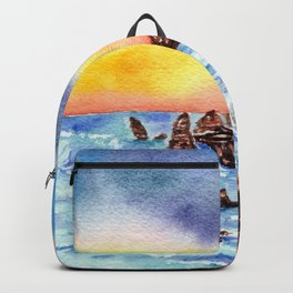 Twelve Apostles No.2  Watercolour Australian Landscape Backpack