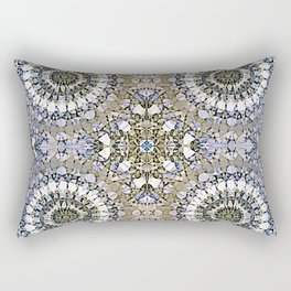 Winter mosaic with mandalas Rectangular Pillow