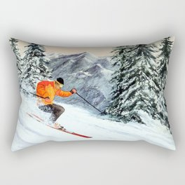 Skiing The Clear Leader Rectangular Pillow