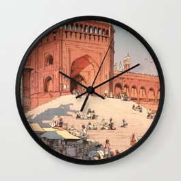 Jami Masjid Delhi From The India And Southeast Asia Series By Yoshida Hiroshi Wall Clock