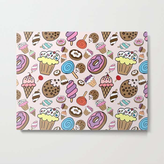 Desserts and Sweets Metal Print