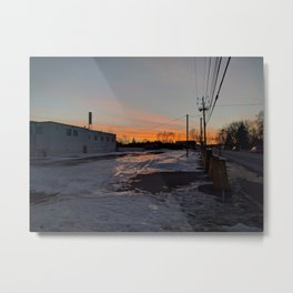 Sunsets And Rainbows Metal Print