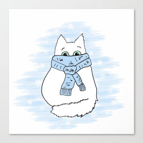 Cartoon cat. Canvas Print