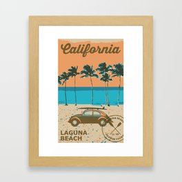 Laguna Beach California. Framed Art Print