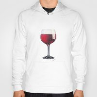 wine Hoodies featuring Wine Glass by Christy Mihelich