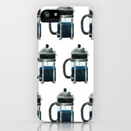 French Press - Blue iPhone Case