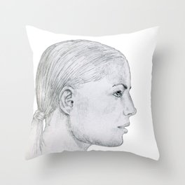 no need to act like a high brow, when just being yourself is enough to wow! Throw Pillow