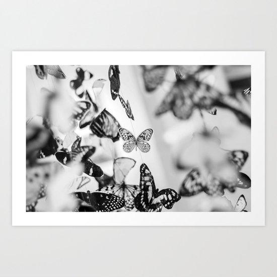 Butterfly papillons Art Print