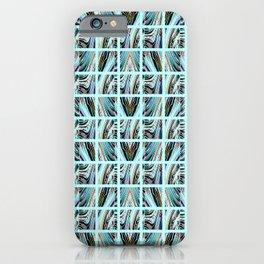 Aqua Grid iPhone Case
